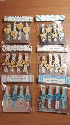 Popsicle Stick Crafts, Craft Stick Crafts, Craft Gifts, Diy Gifts, Fun Crafts, Diy And Crafts, Paper Crafts, Decorated Clothes Pins, Clothespin Magnets