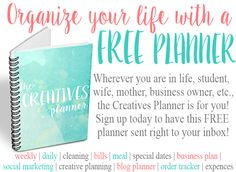 Get organized with the perfect planner. Whether you are a mom, business owner, student, blogger, etc. this planner has something for you!