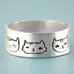 Handmade Gifts | Independent Design | Vintage Goods Cat Heads Ring - Jewelry - Guys