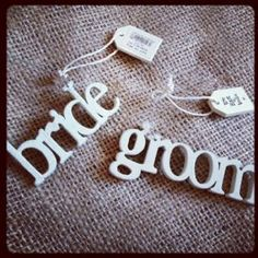 East Of India Little Hanging Wood Word- Bride love these!!!