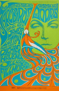 Yardbirds Poster - Rock posters, concert posters, and vintage posters from the… Rock Posters, Hippie Posters, Band Posters, Music Posters, Posters Vintage, Vintage Concert Posters, Vintage Postcards, Art Pop, Psychedelic Art