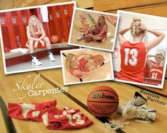 Senior girls basketball pictures--LOVE!! Especially the mirror pic!!!