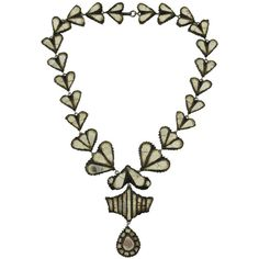 Preowned  Line Vautrin Talosel Necklace ($7,500) ❤ liked on Polyvore featuring jewelry, necklaces, multiple, clear necklace, clear crystal jewelry, pre owned jewelry, drusy jewelry and imitation jewelry