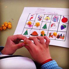 Bingo!  Para practicar el vocabulario del tema,cada alumno elabora su cartón y ¡a jugar!  (Propongo utilizar chuches en lugar de botones u otro material para evitar peligros)