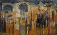 """Twilight in Rome,"" William Thon, 1961, oil on fiberboard, 29 x 47"", Smithsonian American Art Museum."