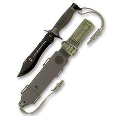 KNIFE Armada knife NATO Paramilitary knife 300mm long With Cross Cut Saw on Blad