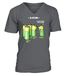Womens AA Meeting Battery Alcohol Addict Beer Wine Drink Funny Gift V-Neck T-Shirt (V-neck T-Shirt Unisex - Charcoal) #drinkingforaliving #drinkingvinegar #drinkingsg healthy drinking, fun drinking, stop drinking, back to school, aesthetic wallpaper, y2k fashion