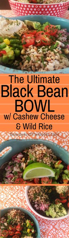 #MeatlessMonday Black Bean BOWLS Cashew Cheese Wild Rice Beauty and the Beets (2)