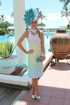 This absolutely gorgeous dress was printed by us for a customer for the MYER FASHION ON THE FIELD 2014 JEEP MAGIC MILLIONS RACEDAY and came in the top 10! #fashion #print #millinery #dress #fashionsonthefield #races #beautiful #digital #design
