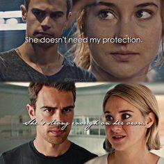 Divergent Four and Tris Divergent Memes, Divergent Four, Tris And Tobias, Divergent Hunger Games, Tris And Four, Divergent Fandom, Divergent Trilogy, Divergent Insurgent Allegiant, Insurgent Quotes