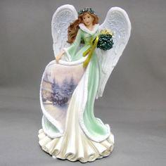 Thomas Kinkade Figurine - Mistletoe Angel  NIB  Item 0113322004 COA