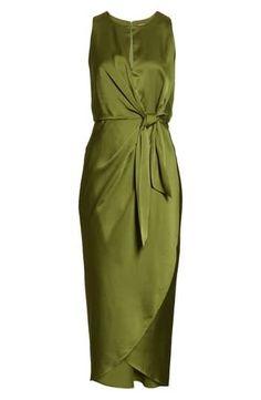 Green Midi Dress, Khaki Dress, Green Wedding Dresses, Midi Dresses Online, Satin Dresses, Bride Dresses, Nordstrom Dresses, Latest Fashion For Women, Ted Baker