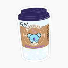 """Koya Espresso Photographic Print by ChocoSenpai Kawaii Stickers, Cute Stickers, Kawaii Wallpaper, Bts Wallpaper, Journal Stickers, Planner Stickers, Dibujos Dark, Tumblr Stickers, Bts Merch"
