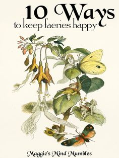 10 ways to keep faeries happy Most of us think of faeries as tiny creatures fli… 10 ways to keep … Magick Book, Green Witchcraft, Herbal Magic, All Nature, Flower Fairies, Fairy Land, Book Of Shadows, Faeries, Creatures