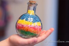 Colored Rice Bottle Art