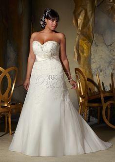954fe6c45d7 Shop Morilee s Mori Lee Madeline Gardner Bridal Beautiful Beaded Alencon  Lace Appliques on Net with Satin Trim Plus Size Wedding Dress. Beaded  Alencon Lace ...