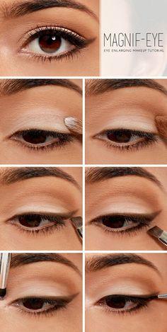 enlarging eyes makeup