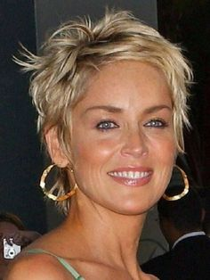 Sharon Stone Hairstyles Short Hair hairstyles brunette The Hottest Short Hairstyles & Haircuts for 2016 Sharon Stone Hairstyles, Hairstyles Over 50, Short Hairstyles For Women, Hairstyles Haircuts, Hairstyle Short, Blonde Hairstyles, Sharon Stone Short Hair, Fringe Hairstyles, Celebrity Hairstyles