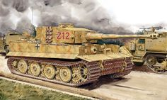 1944 Normandía Tiger s.SS-Pz. Abt. 101 Leibstandarte - Ron Vosltad -Dragon German Soldiers Ww2, German Army, Luftwaffe, Military Drawings, Tank Armor, Ww2 Pictures, Tiger Tank, Armored Fighting Vehicle, Ww2 Tanks