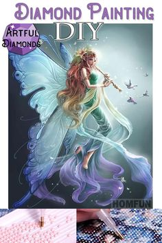 Prettyia Butterfly Fairy DIY 5D Diamond Painting Embroidery By Number Kits