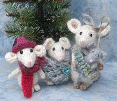(6) Name: 'Knitting : Mouse Family