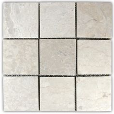 Cream Herringbone Stone Mosaic Fireplace Surround and Hearth - Subway Tile Outlet Stone Mosaic Tile, Travertine Tile, Marble Mosaic, Mosaic Glass, Pebble Tiles, Stained Glass, Mosaic Fireplace, Decorative Tile, Wall Tiles