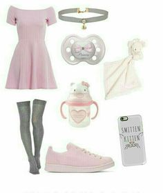 Pastel Outfit, Pastel Goth Outfits, Kawaii Fashion, Cute Fashion, Fashion Looks, Fashion Outfits, Little Girl Outfits, Cool Outfits, Ddlg Outfits