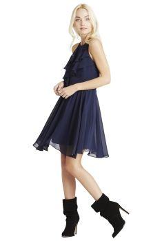 BCBGeneration Ruffled Bodice Dress