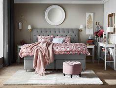 Sleep huvudgavel, Sleep säng, Versaille bäddset och Leonora pall från Mio.