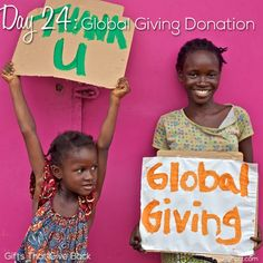 Day 24: Global Giving Donation