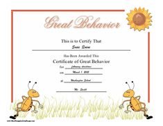 "A general ""You Did It"" certificate of appreciation for a child ..."