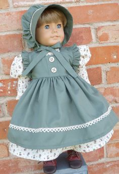 """18"""" Doll Clothes Historical Prairie Style Dress--Civil War Style Fits American Girl Kirsten, Cecile, Marie Grace, Addy"""
