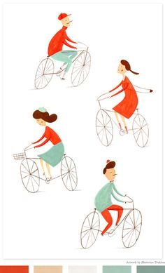 Bicycles print by Ekaterina Trukhan | Shared on Creature Comforts Blog