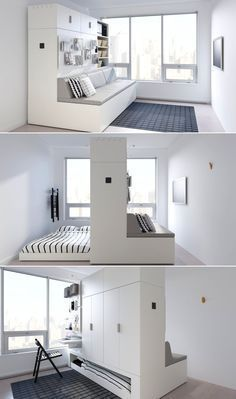 Small House Furniture, Space Saving Furniture, Diy Furniture, Space Saving Beds, Furniture For Small Apartments, Space Saving Ideas For Home, Multifunctional Furniture Small Spaces, Multipurpose Furniture, Furniture Design For Bedroom