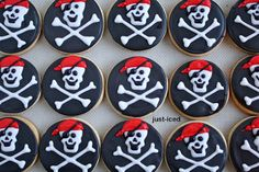 just-iced cookies: Arrr! More Pirates! Pirate Birthday, Pirate Theme, Mermaid Birthday, 5th Birthday, Iced Cookies, Royal Icing Cookies, Sugar Cookies, Cookie Designs, Cookie Ideas