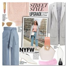 """Street style NYFW"" by mery90 ❤ liked on Polyvore featuring Victoria Beckham, Versace, TIBI, Vika Gazinskaya, Danse Lente, Oliver Peoples, GetTheLook, StreetStyle, NYFW and StreetChic"