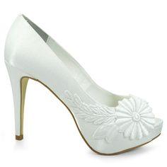 Sapato Peep Toe Noiva Divalesi