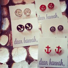 anchor earrings from Dear Hannah #Hoboken #4thOfJuly #patriotic #redwhiteandblue #hobokengirlstyle #style #fashion #shopping #earrings #accessories #DearHannah