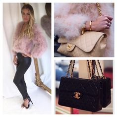 Get the look- Nude Feather Jacket €250 to buy  100% Leather Quilted Bags €199 to buy Shop online now at www.cariscloset.ie or call 018457540 / 018456477 to order now xx