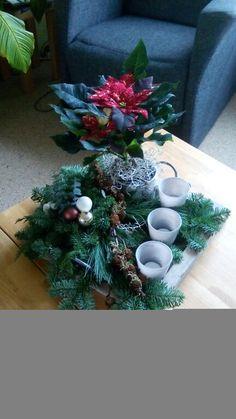 Kerststuk met kerstster