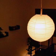 和風ペンダントライト。ふんわり優しい光が空間に広がります。 https://room.rakuten.co.jp/room_jp/1700005964955197?scid=we_rom_pinterest_official_20150820_r1