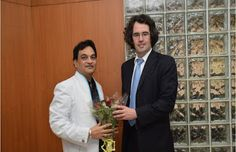 """Prof.Dr.Mukund Sarda """"Prof. Jean d' Aspremont, The University of Manchester School of Law, visited New Law College Pune for discussion on Academic Linkages on 15th January 2015"""""""