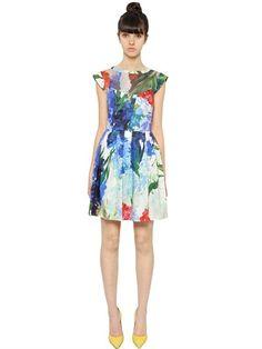 Silk Chiffon & Cotton Satin Dress