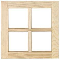"16"" x 16"" Wooden Window"