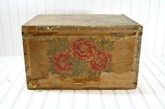 Vintage Tea Crate / Vintage Wood Crate/ Vintage by HuntandFound, $79.00