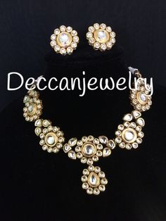 Jewelry & Watches New 22ct Gold Plated Indian Pearl Necklace Set Cz Crystal Christmas Gift 2019 New Fashion Style Online