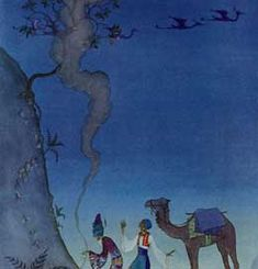 Virginia Frances Sterrett Illustrations of the Arabian Nights (1923-1928) The Story of Baba Abdallah