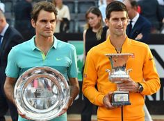 Novak Djokovic vence a Roger Federer 6-4, 6-3. En la final de Roma.