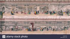 Great Exhibition, Crystal Palace, Hyde Park, London, 1851. Artist: Anon Stock Photo