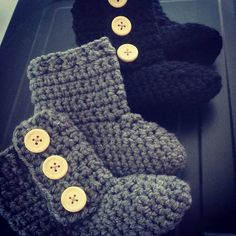 Baby booties  hand crochet  custom size and by HadleyPaigeDesigns